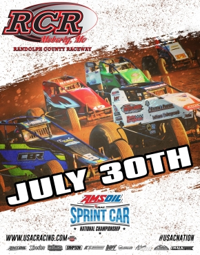 RACEDAY: Randolph Co. Raceway - USAC AMSOIL National Sprints - July 30, 2017