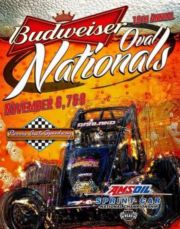 "BACON, GARDNER LEAD SPRINTS TO ""BUDWEISER OVAL NATIONALS"""