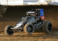 "Tyler Courtney won his third consecutive ""Smackdown"" feature race Thursday night at Kokomo Speedway."