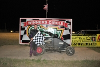 Cody Brewer was victorious in the Gulf Coast Midget race at Greenville, TX.