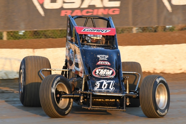USAC AMSOIL National Sprint Car point leader Justin Grant.