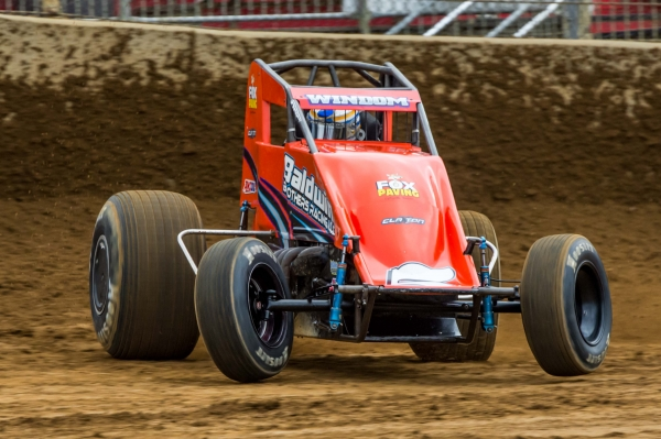 Last Saturday's Lawrenceburg USAC AMSOIL National Sprint Car winner Chris Windom.
