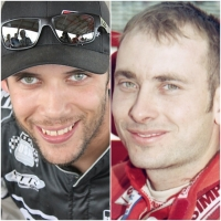 Bryan Clauson (left) and Dave Steele (right).