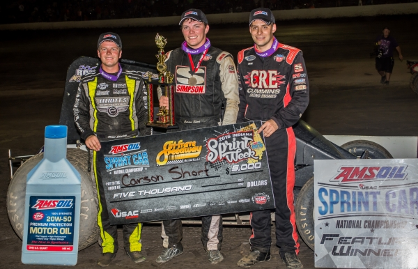 CARSON SHORT SCORES FIRST WIN AT TRI-STATE IN USAC'S 10,000TH RACE