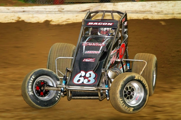 Brady Bacon won Tuesday night's Eastern Storm opener at Grandview Speedway.