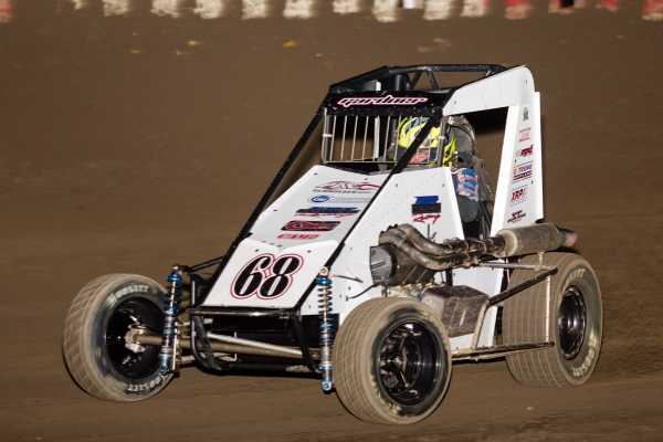 USAC Western States Midget point leader Ronnie Gardner.