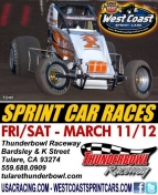 WEST COAST SPRINTS EYE 2-NIGHT TULARE VISIT; CLAUSON SPECTACULAR IN SIN CITY SHOWDOWN AT LVMS