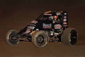 "Kevin Thomas, Jr. won Saturday night's ""Sprint Car Smackdown V"" at Kokomo (Ind.) Speedway."