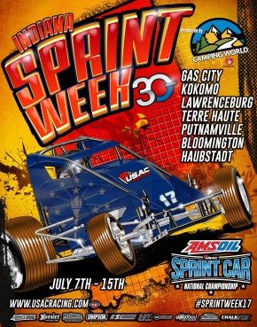 RACEDAY: Kokomo - Indiana Sprint Week Rd. 1 - July 8, 2017