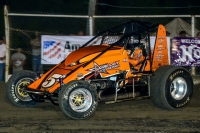 USAC Wingless Sprints Oklahoma point leader Danny Smith.