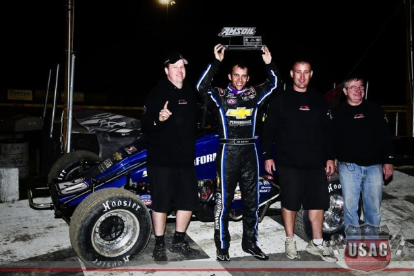 Bryan Clauson and the Tony Stewart/Curb-Agajanian Racing team started the year right with a win at Bubba Raceway Park