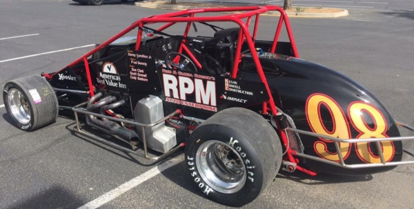 "Joe Liguori's ride for this Friday night's ""Rollie Beale Classic"" Silver Crown race at Ohio's Toledo Speedway."