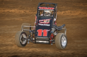 Dave Darland in the Gray Racing No. 11 in 2016 USAC National Midget action.