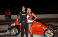 Chad Nichols is the 2013 Honda USAC Western Pavement Midget Champ.