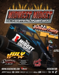 INAUGURAL MIDWEST MIDGET CHAMPIONSHIP DEBUTS AT NEBRASKA'S JEFFERSON CO. JULY 13-14