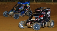 Kevin Thomas, Jr. (#5) and Zeb Wise (#39BC) race side-by-side earlier during the 2019 USAC NOS Energy Drink National Midget season.