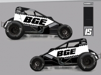 Carson Garrett's KO Motorsports USAC AMSOIL National Sprint Car rendering for the 2021 season.