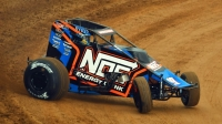 Chris Windom won the opener of the most recent USAC AMSOIL National Sprint Car twin feature held in 2011.