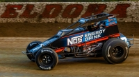 Tyler Courtney became the first driver to win four consecutive Eldora Speedway USAC AMSOIL National Sprint Car features at Saturday's 4-Crown Nationals presented by NKT.tv.
