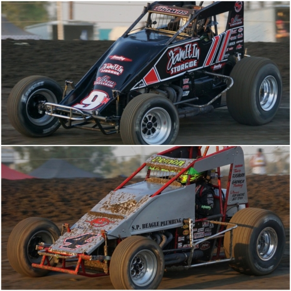 Hanford feature winner Kevin Thomas, Jr. (Top) & California Sprint Week champ Damion Gardner (Bottom).