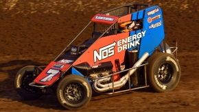 May 17, 2019 USAC NOS Energy Drink National Midget winner, Tyler Courtney.