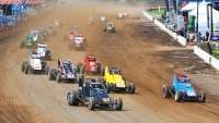The start of last year's Bettenhausen 100 from the Illinois State Fairgrounds.