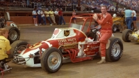 1983 USAC Silver Crown champion Gary Bettenhausen poses before the start of the event at the Du Quoin (Ill.) State Fairgrounds.