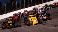 USAC Silver Crown cars at Lucas Oil Raceway in Brownsburg, Ind.