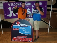 Winner Brett Wilson (left) with USAC WSO's Kevin Barksdale.