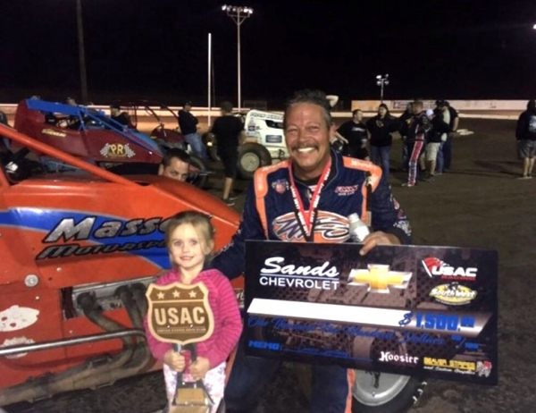 CHARLES DAVIS JR. TOPS PEORIA USAC SOUTHWEST RACE FOR THE CURE