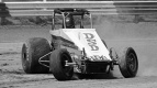 Bubby Jones on the gas during the 1985 USAC National Sprint Car season.