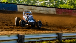 #7BC Tyler Courtney has won three of the last five USAC AMSOIL National Sprint Car feature events at the Terre Haute Action Track, host of this Friday's Jim Hurtubise Classic.