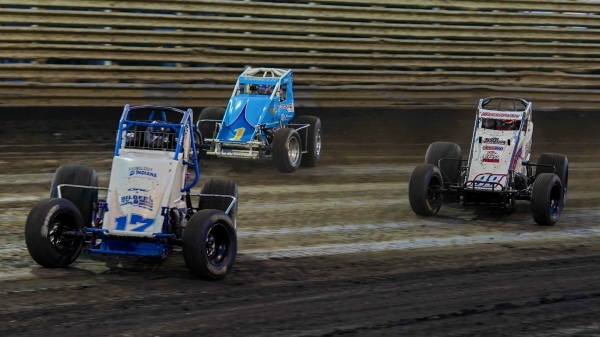"#17 Nick Bilbee and #98e Chad Boespflug are entered for the inaugural ""Corn Belt Nationals"" July 5-6 at Iowa's Knoxville Raceway."