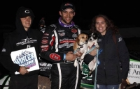 "Bryan Clauson wins the ""Winter Challenge"" at Canyon Speedway Park in early 2016."